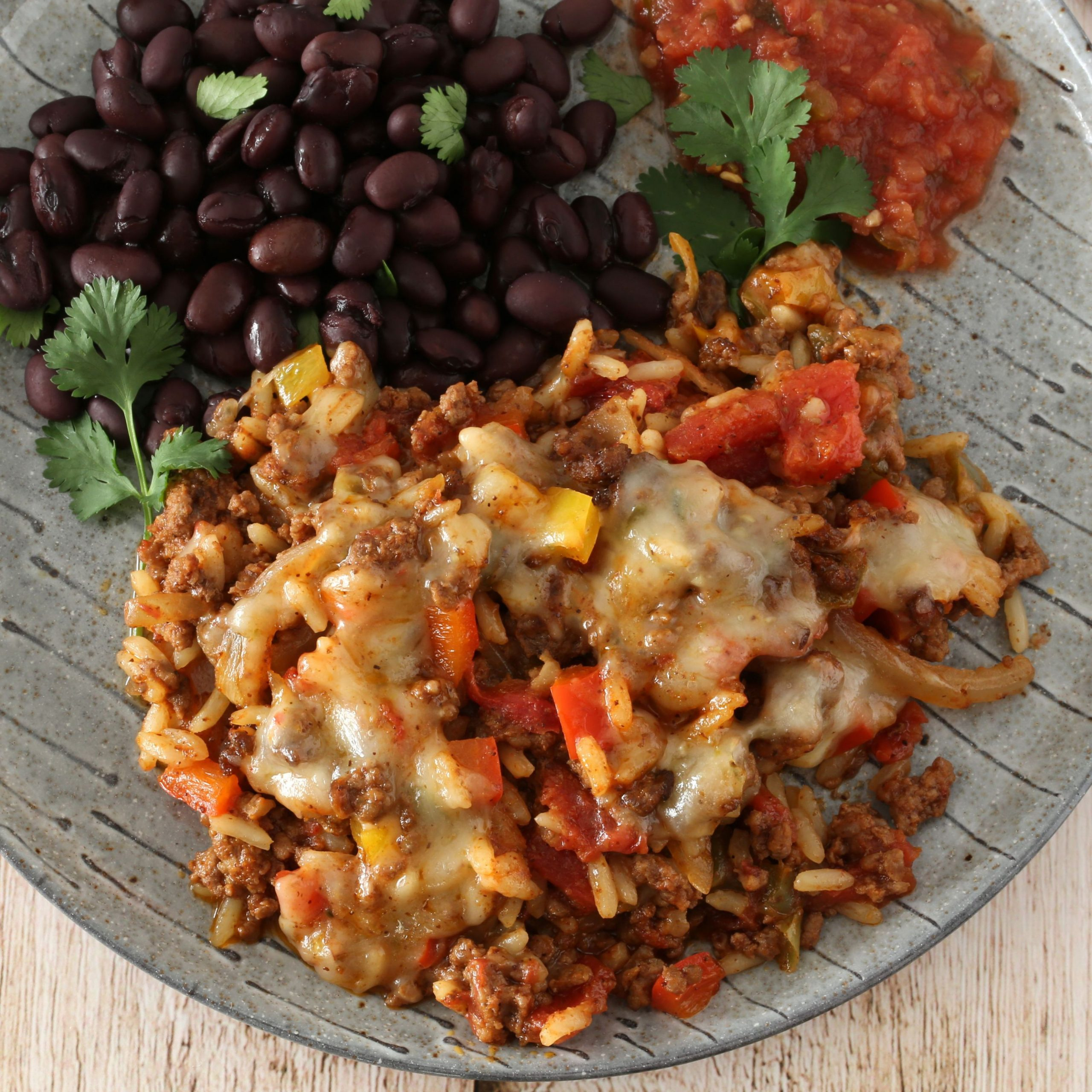 Texas-Style Ground Beef and Rice Casserole