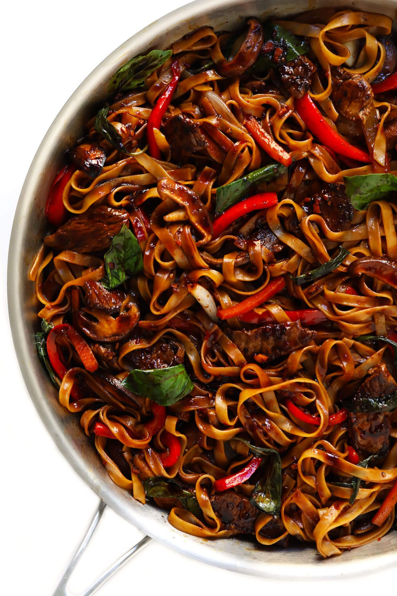 Thai Basil Beef Noodle Stir-Fry | Gimme Some Oven - Recipes Beef Noodles