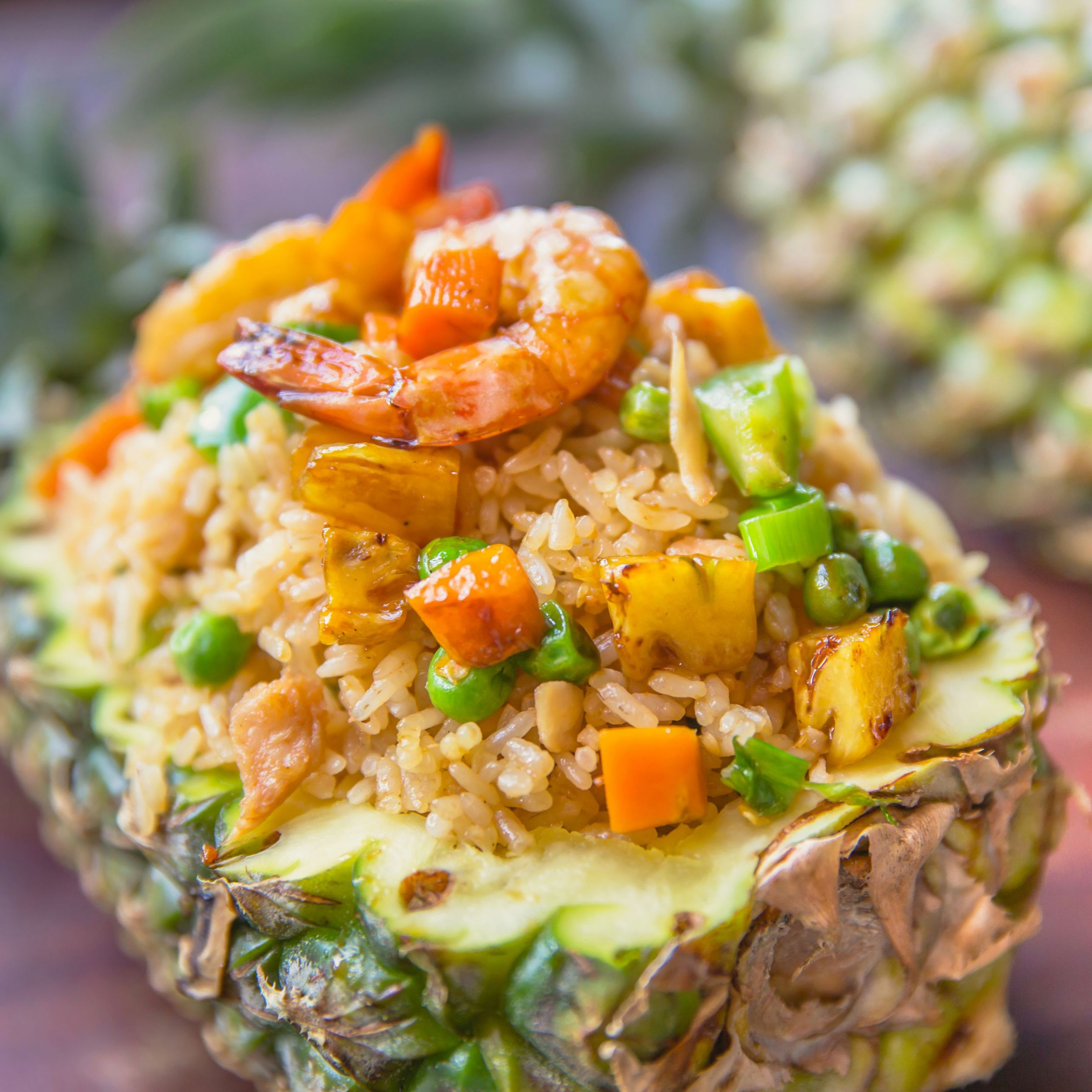 Thai Fried Rice With Pineapple and Prawns - Recipes Rice With Pineapple