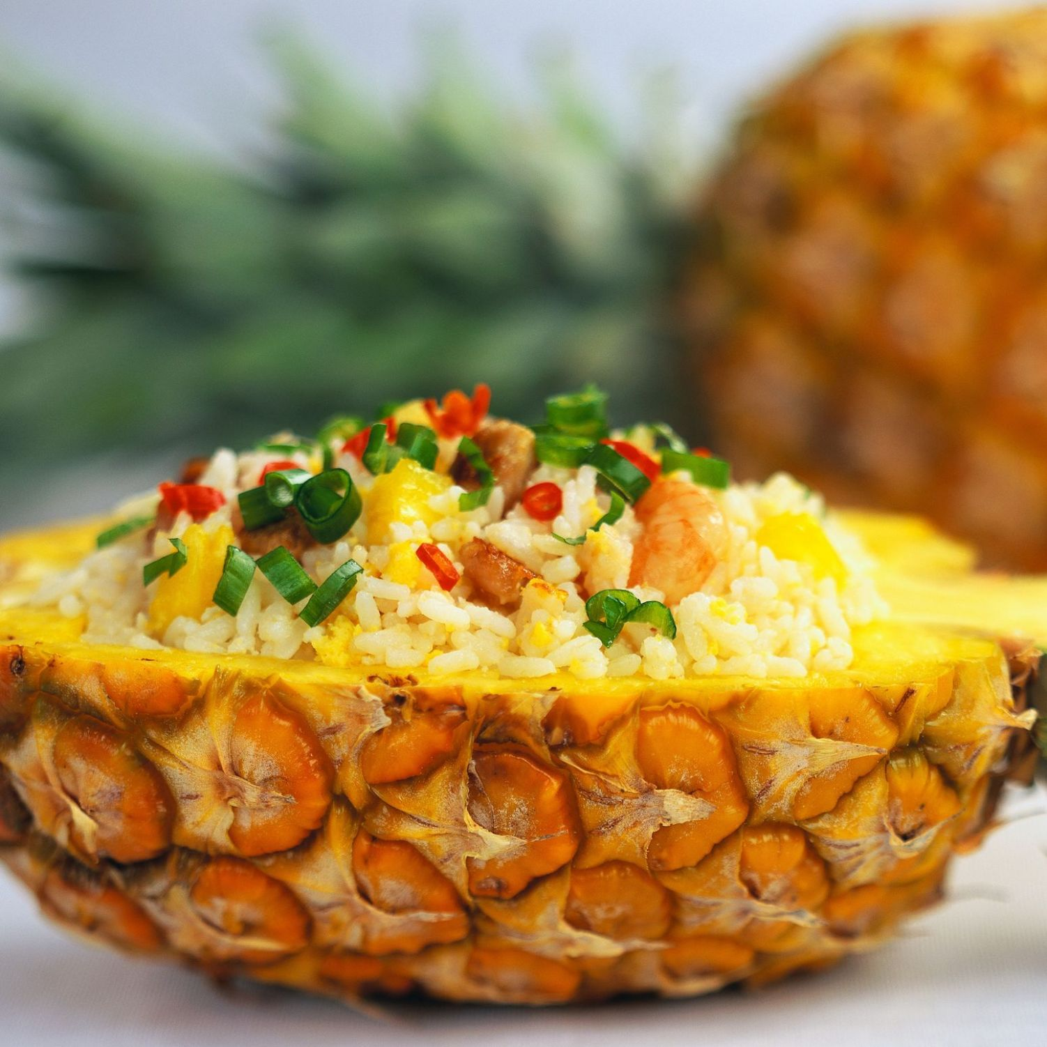 Thai Pineapple Chicken Fried Rice - Recipes Rice With Pineapple