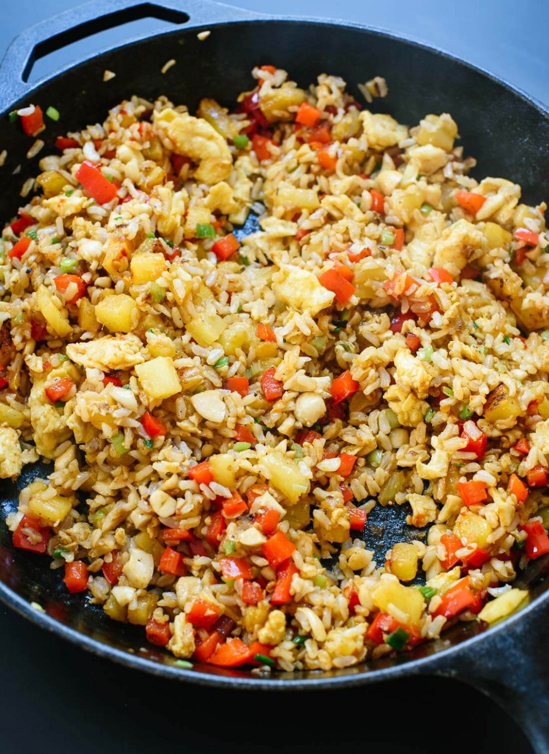 Thai Pineapple Fried Rice Recipe - Cookie and Kate - Recipes Rice With Pineapple