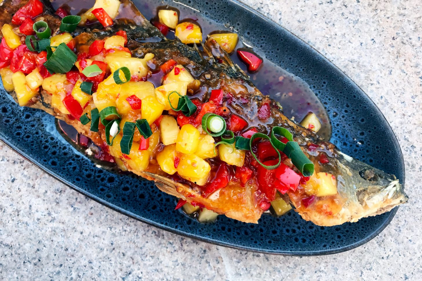 Thai Style Deep Fried Whole Fish with Pineapples and Sweet Chilli Sauce - Recipe Fish With Pineapple