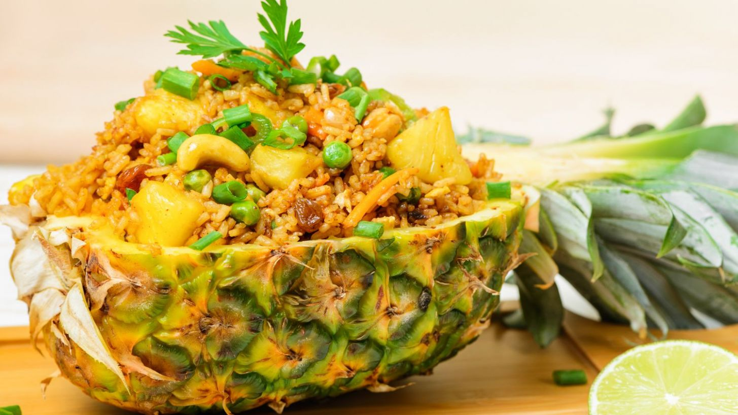 Thai Vegetarian Pineapple Fried Rice - Recipes Rice With Pineapple