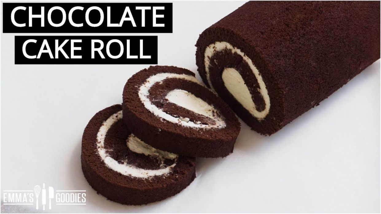 THE BEST Chocolate Cake Roll! Chocolate Swiss Roll Recipe - Recipe Chocolate Roll