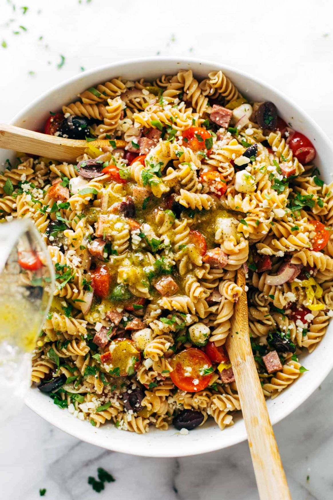 The Best Easy Italian Pasta Salad Recipe - Pinch of Yum - Pasta Recipes You Can Eat Cold