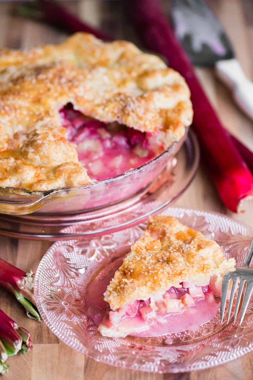 The BEST Fresh Rhubarb Pie Recipe | Ten Acre Baker
