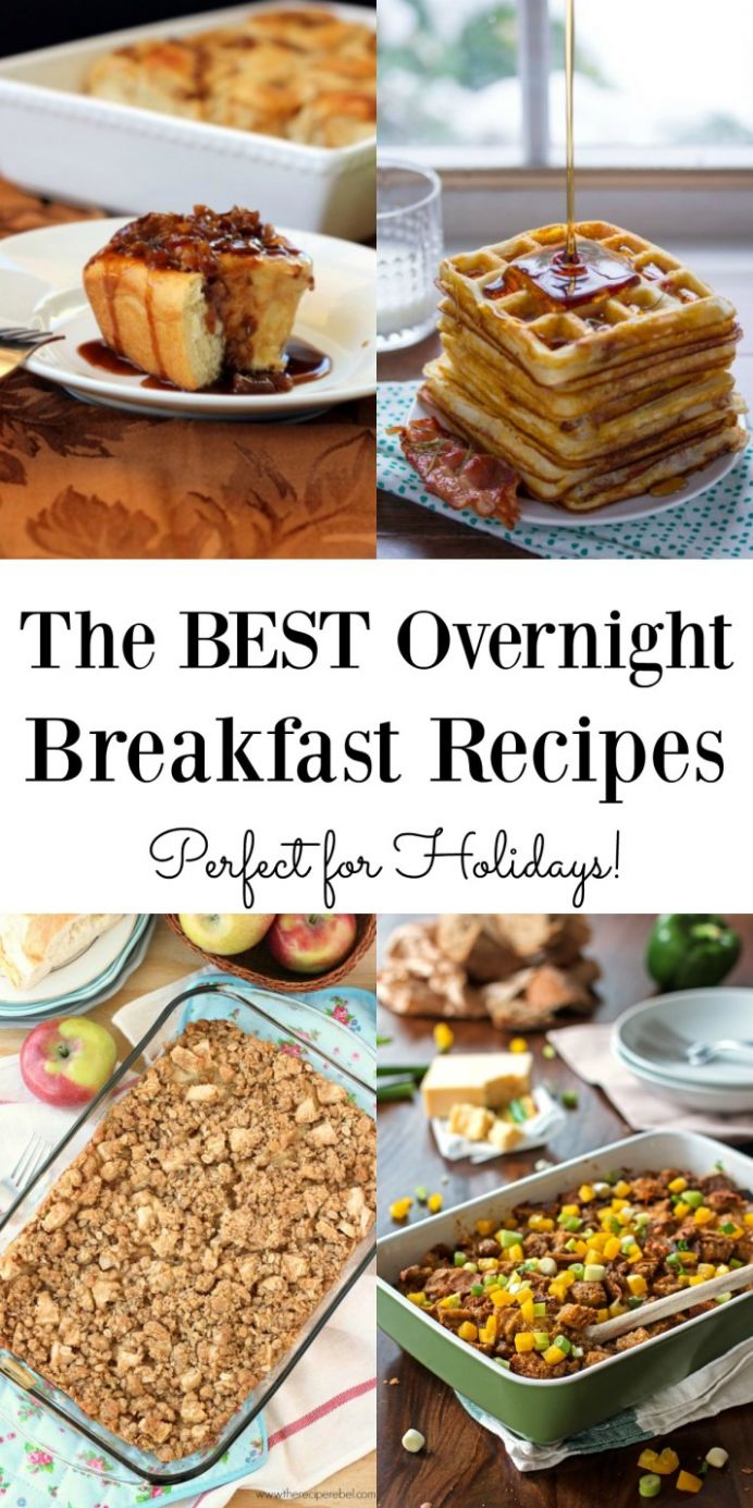 The BEST Overnight Breakfast Recipes - Maebells - Breakfast Recipes Overnight
