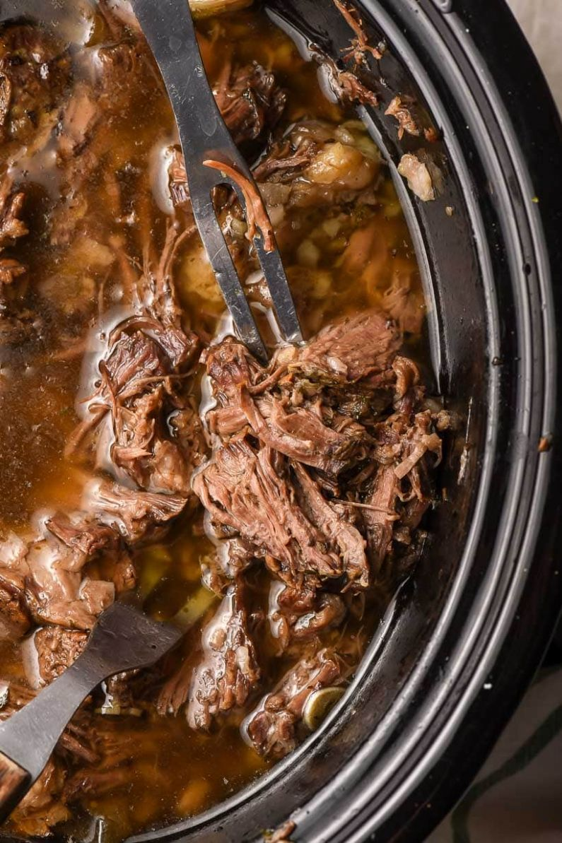 The Best Slow Cooker Shredded Beef Recipe | NeighborFood