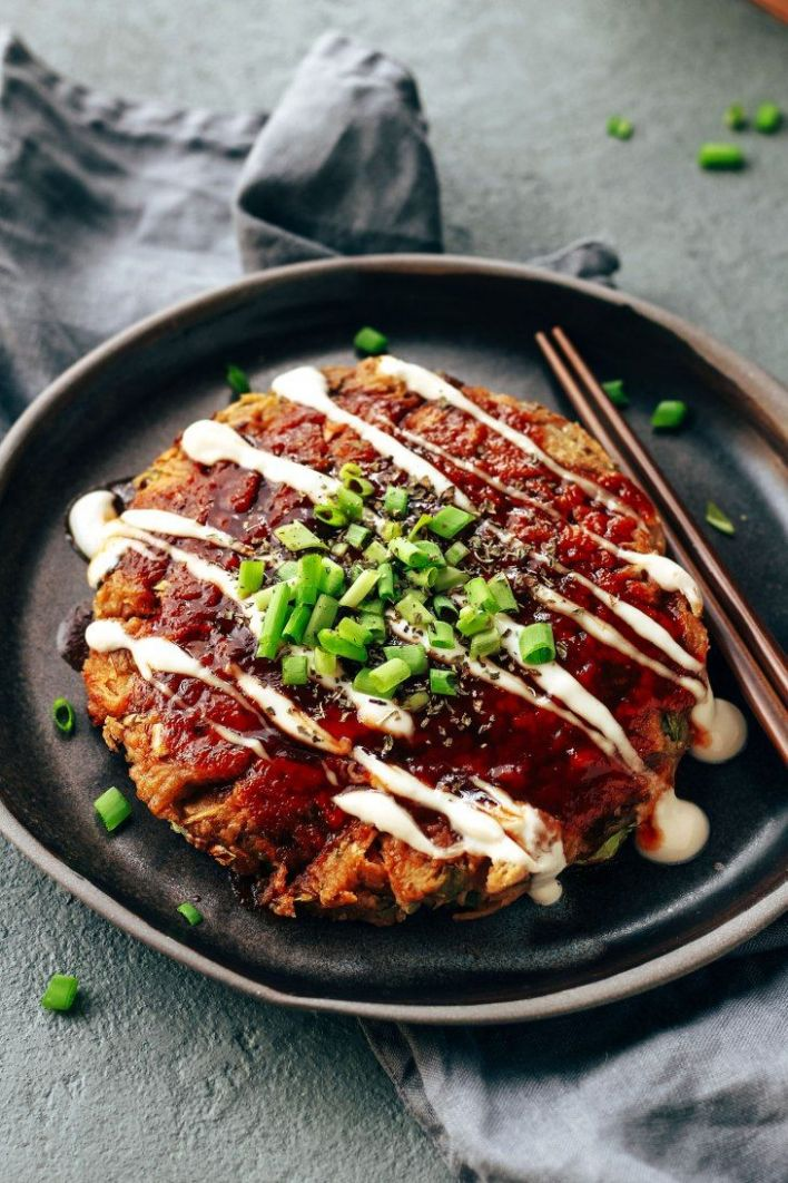 The Best Vegan Okonomiyaki - Vegetarian Recipes Japanese Food