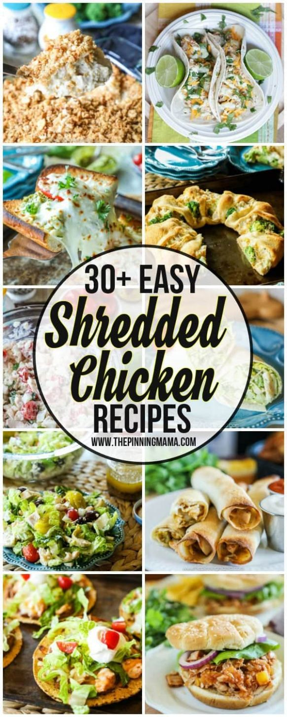 The BIG List of Easy Shredded Chicken Recipes • The Pinning Mama