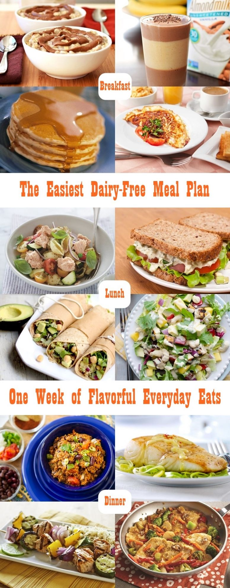 The Easiest Dairy-Free Meal Plan (gluten-free optional) - Easy Recipes Gluten Free Dairy Free