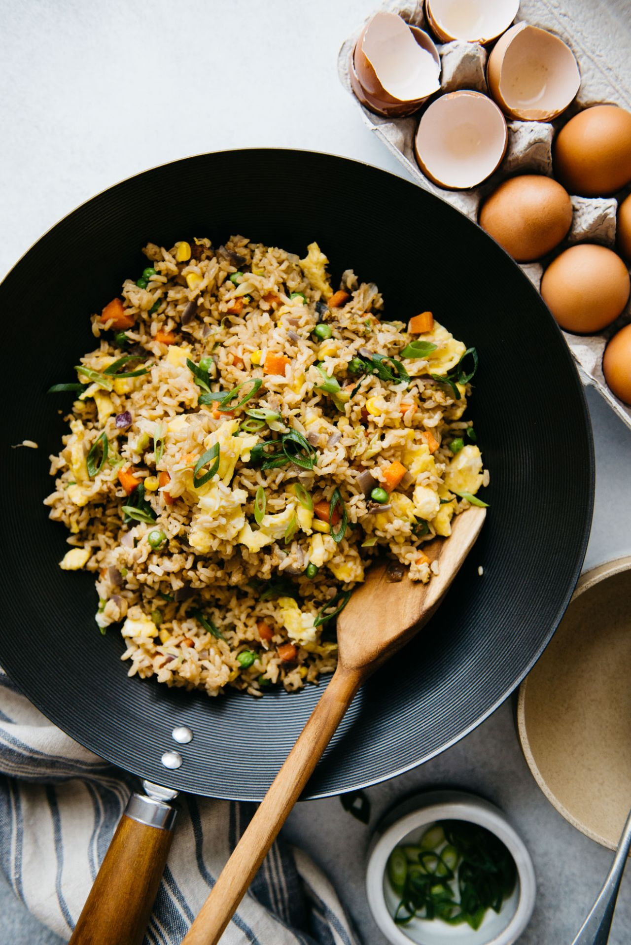 The Easiest Egg Fried Rice (11 Minutes) | Healthy Nibbles