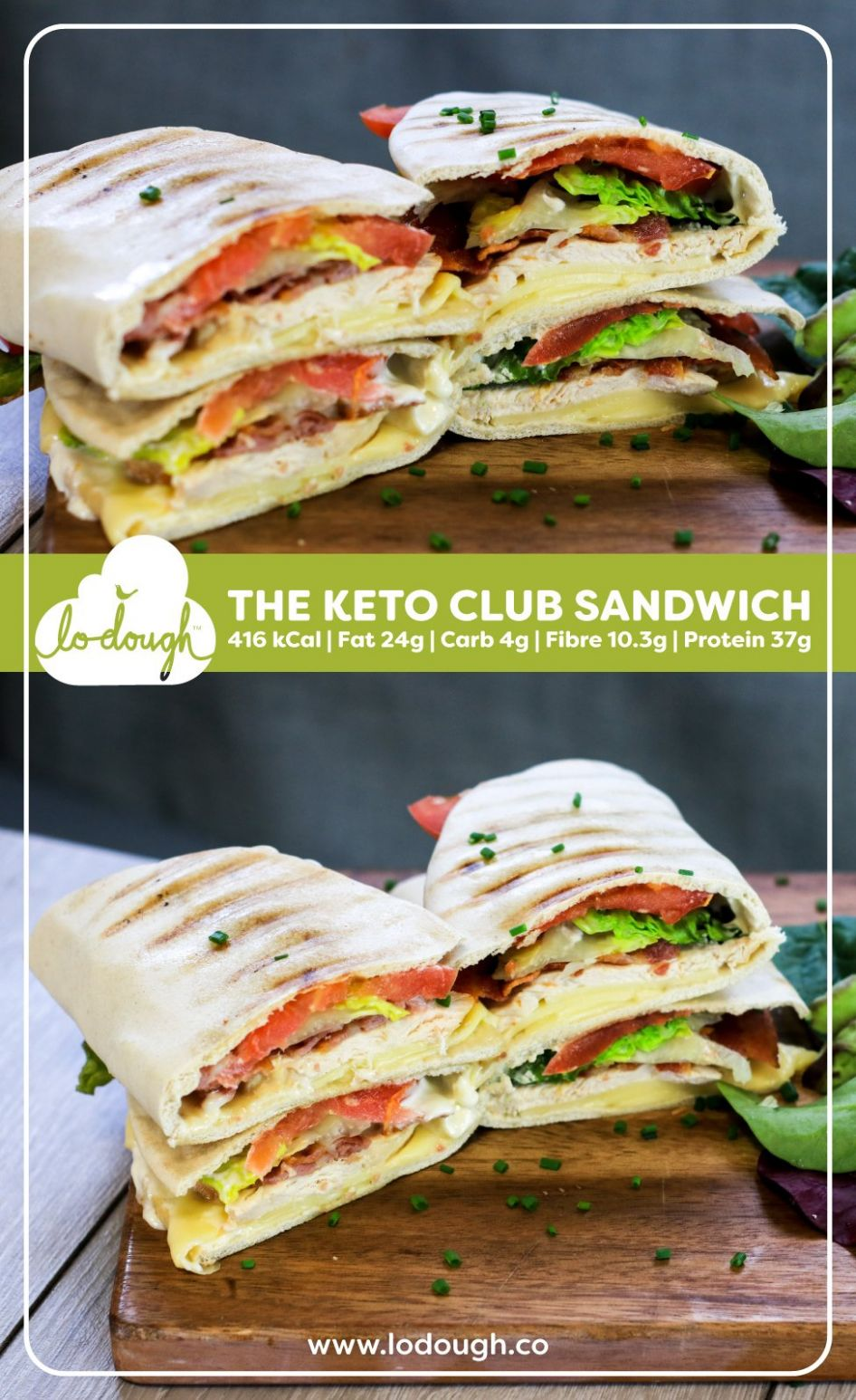 The Keto Club Sandwich