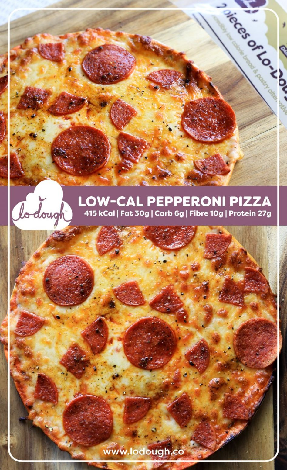Lo-Dough Pepperoni Pizza - Pizza Recipes Low Calorie