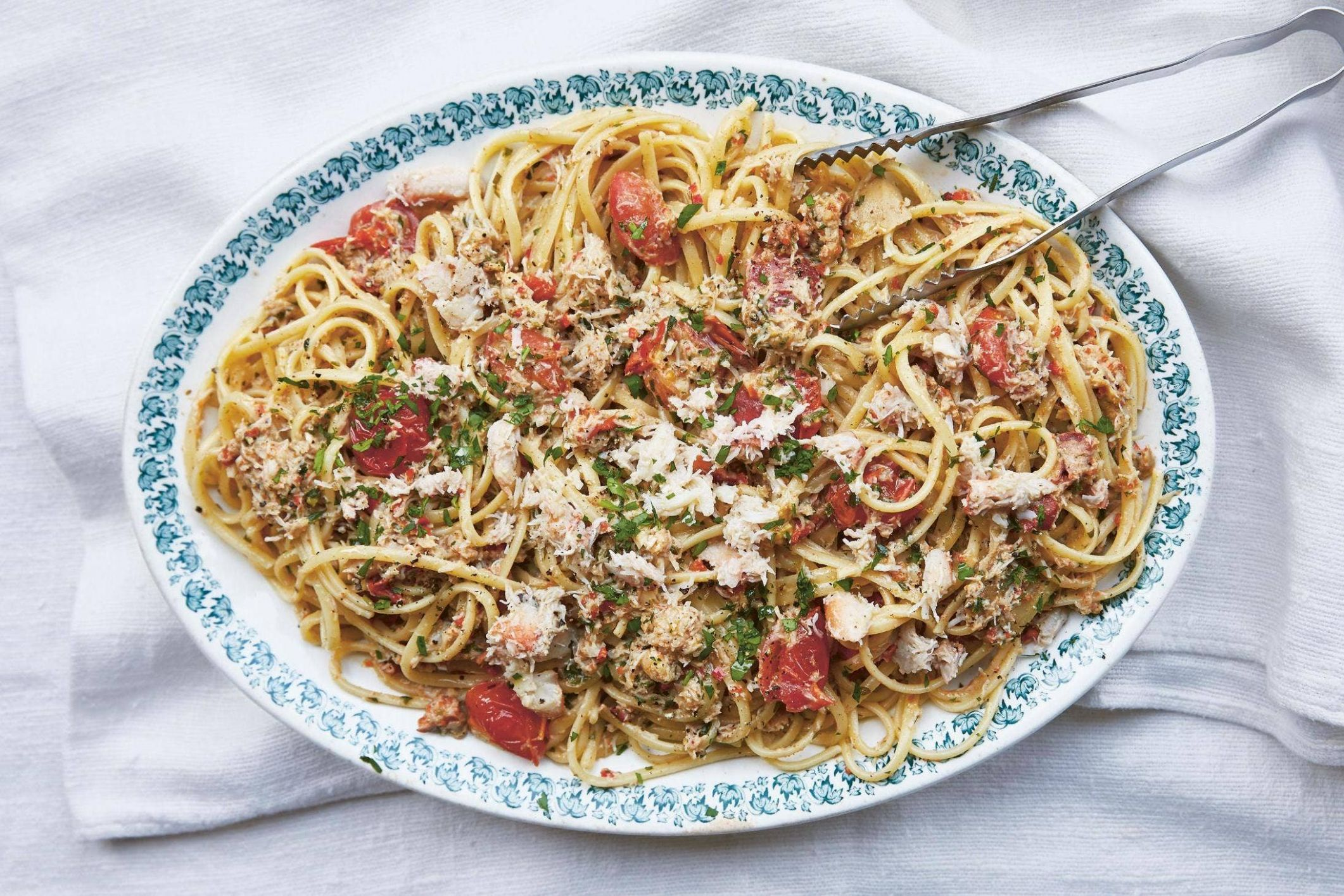 Long and  Short of Pasta: linguine with crab and cream ..