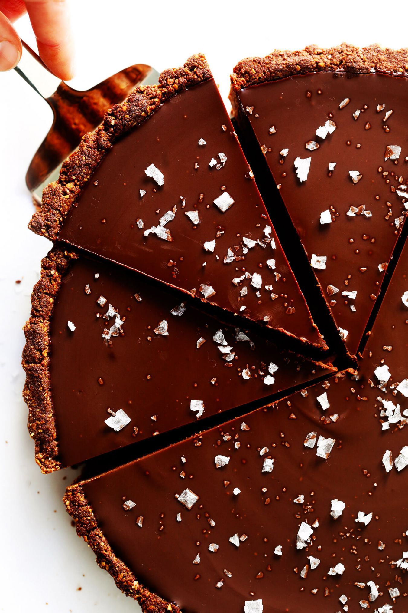 Most Amazing Salted Dark Chocolate Tart - Chocolate Recipes Quick