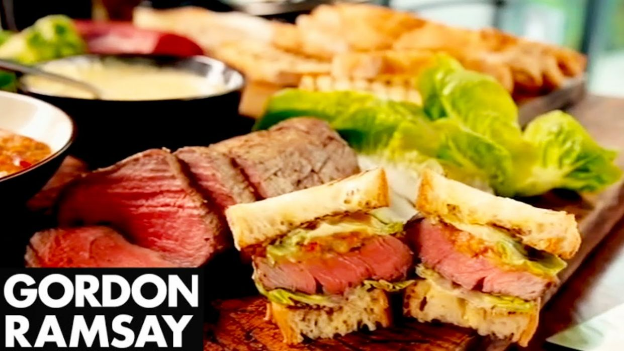 Ultimate Steak Sandwich - Gordon Ramsay - Sandwich Recipes Youtube