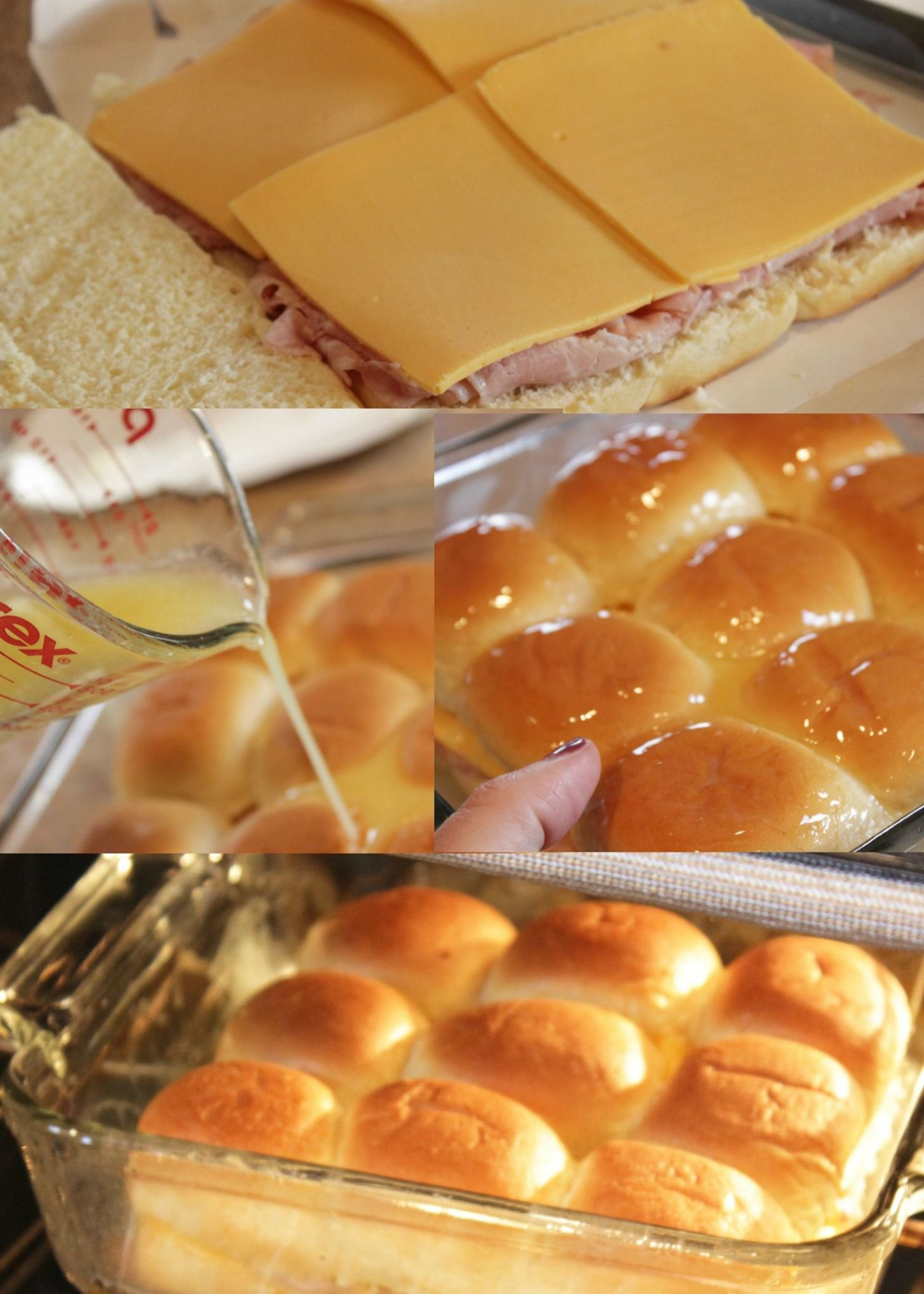 These ham and cheese Hawaiian rolls sliders ... sandwich recipes ...