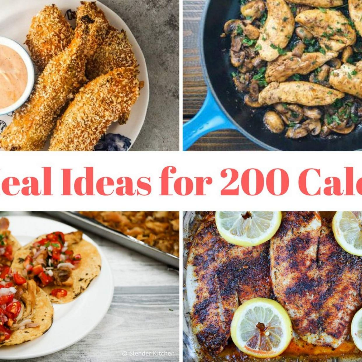 Thirty Six Recipes for 10 Calorie Meals - Slender Kitchen - Breakfast Recipes Under 200 Calories