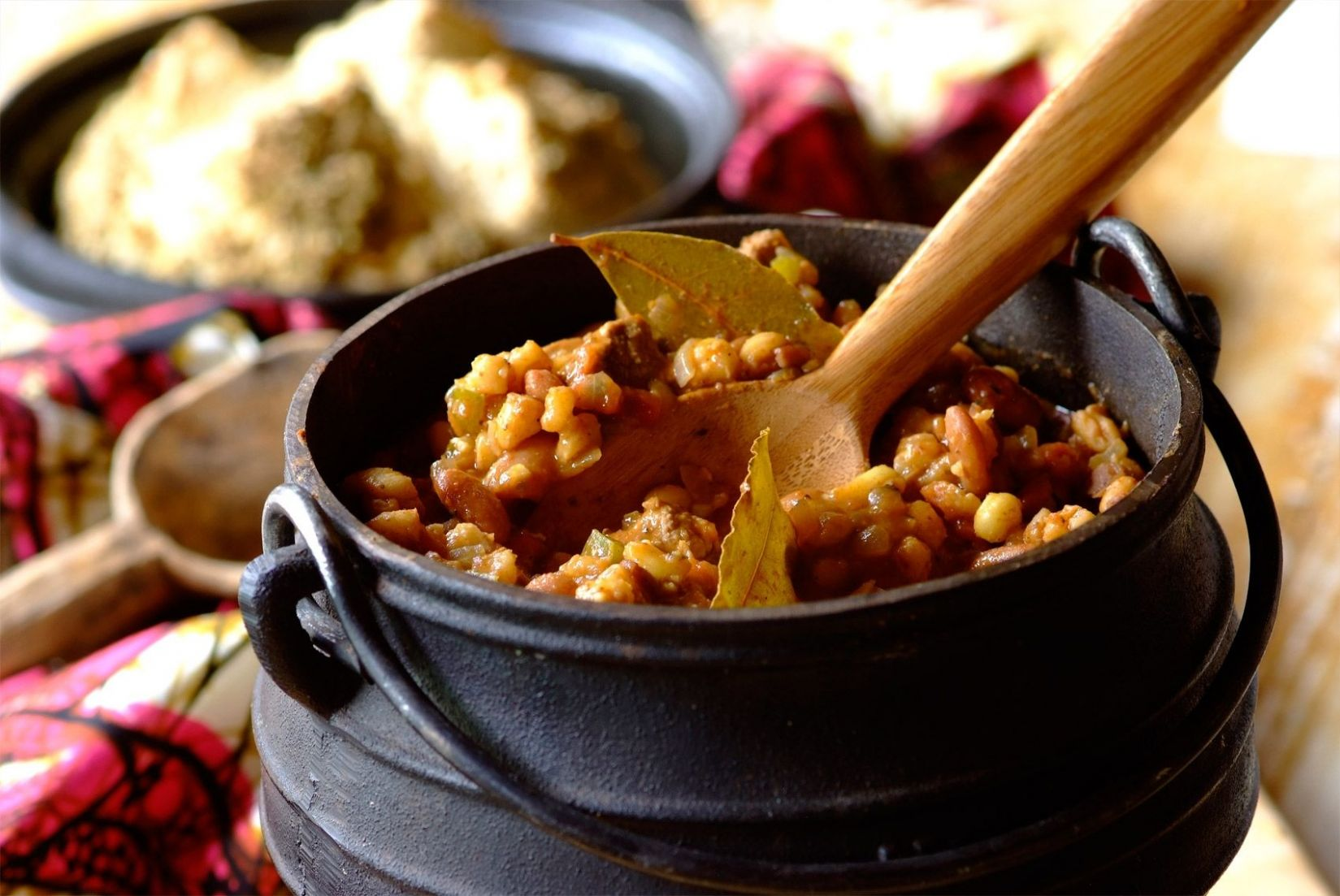 This is a recipe for umngqusho, samp (maize kernels) and beans ...