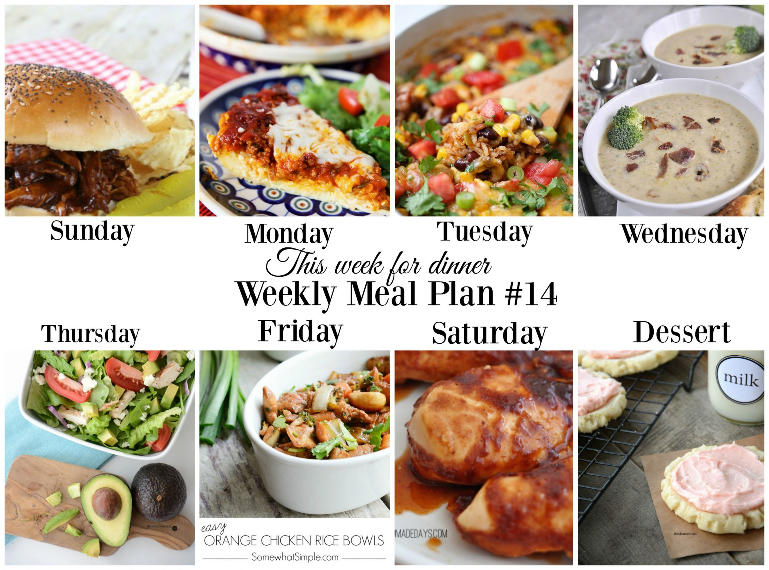 This week for dinner}Meal Plan #12 - Your Homebased Mom