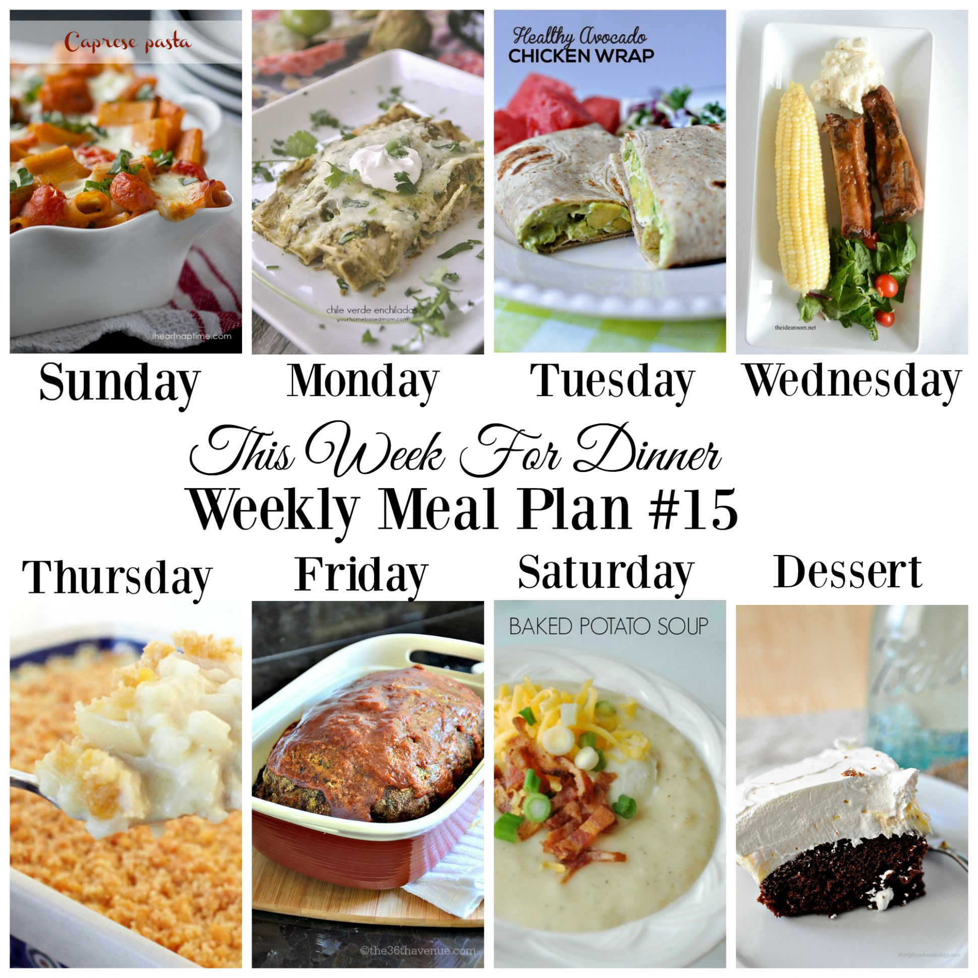This Week for Dinner}Weekly Meal Plan #12 - Your Homebased Mom