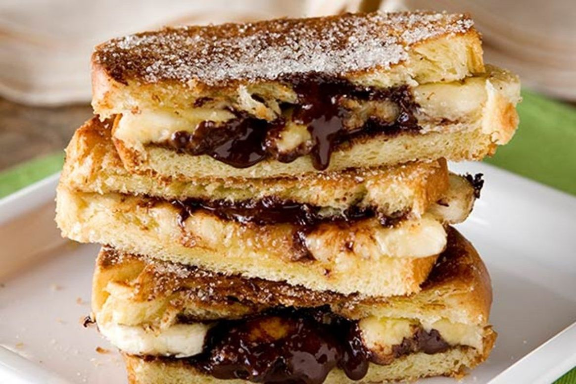 Toasted chocolate and banana brioche sandwiches ( SERVES 11 ...