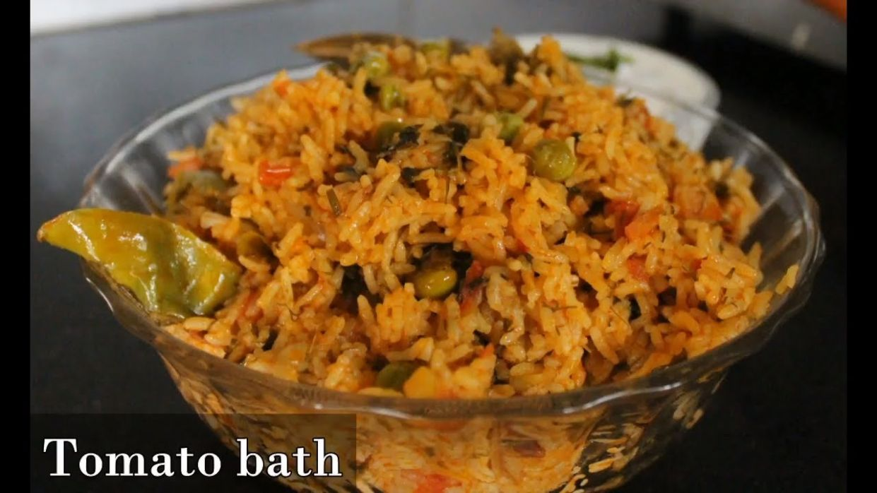 Tomato bath recipe in Kannada/Tomato rice in kannada/Tomato rice bath in  kannada/tomato pulao