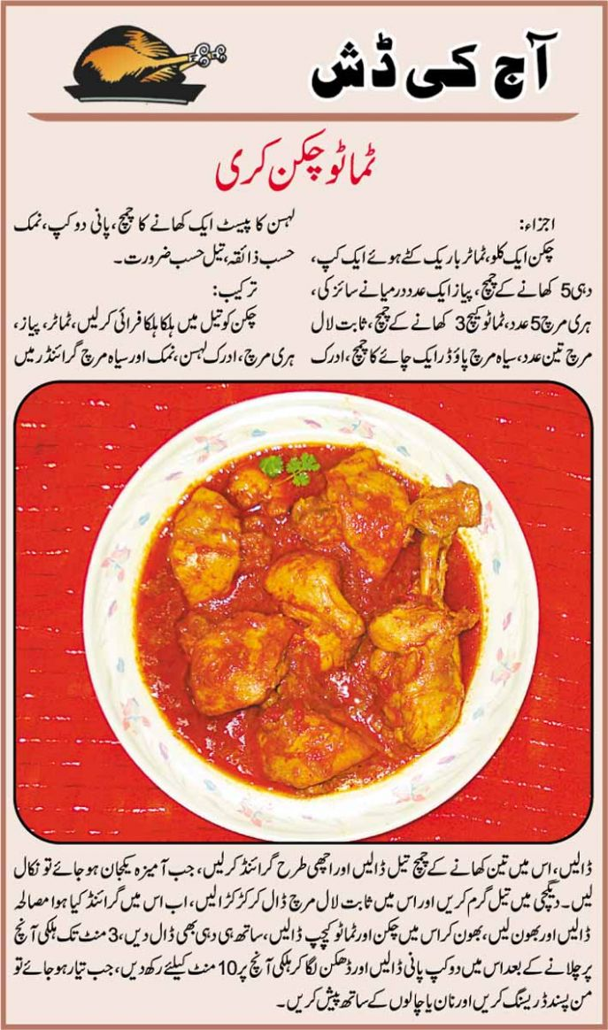 Tomato Chicken curry Urdu Recipe - Recipe Chicken Urdu