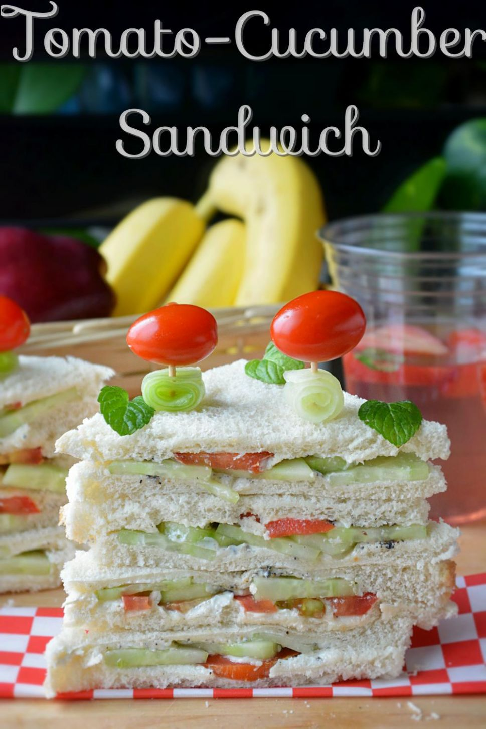 Tomato cucumber Veggie Sandwich - Sandwich Recipes Without Fire