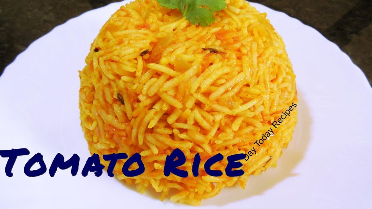 Tomato Rice Recipe in HINDI by Day Today Recipes - Rice Recipes In Hindi