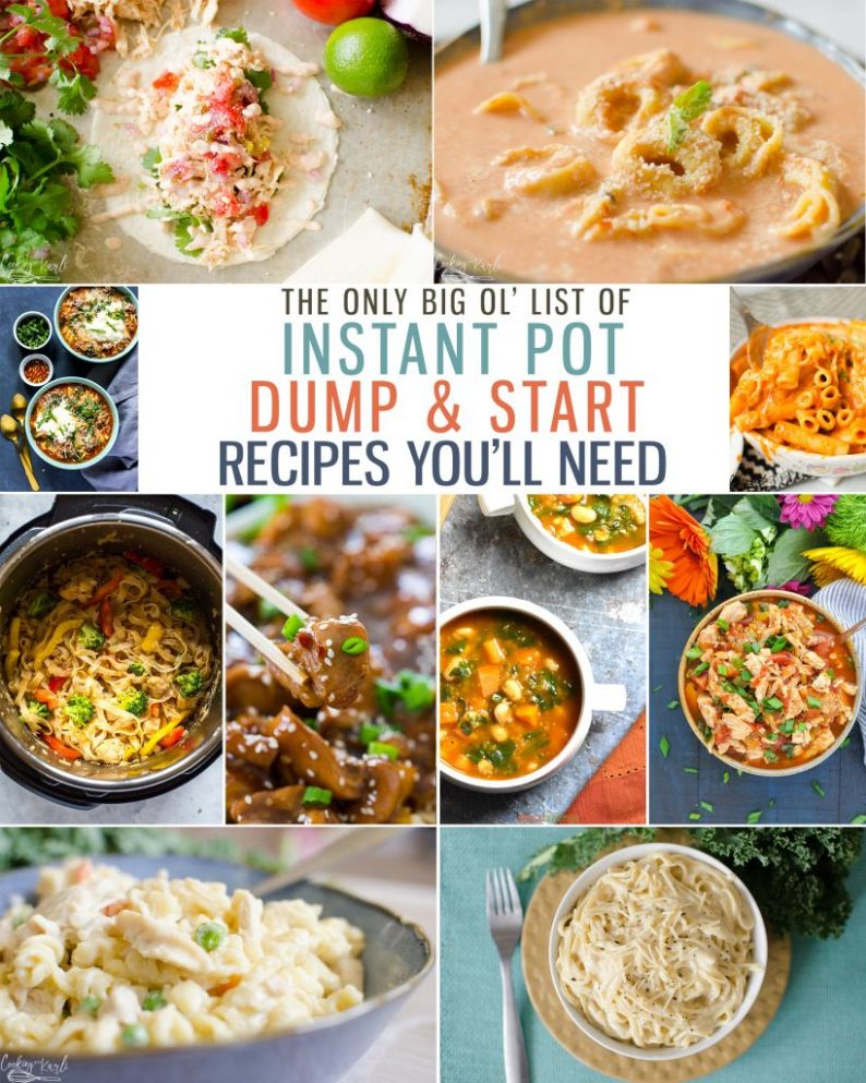 Top 10 Instant Pot Dump and Start Recipes - Cooking With Karli - Simple Recipes Instant Pot