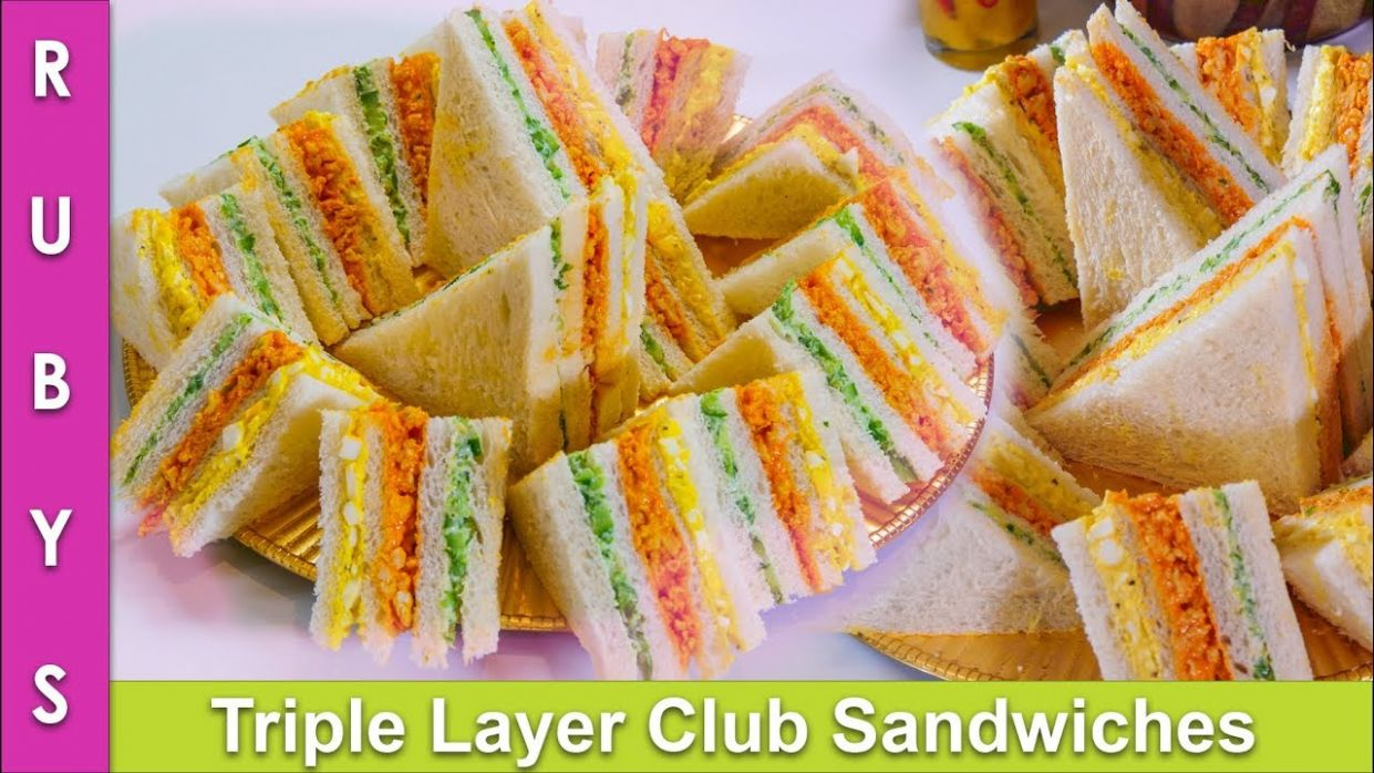 Triple Layer Club Sandwiches Party Ideas & Lunchbox Idea Recipe in Urdu  Hindi- RKK