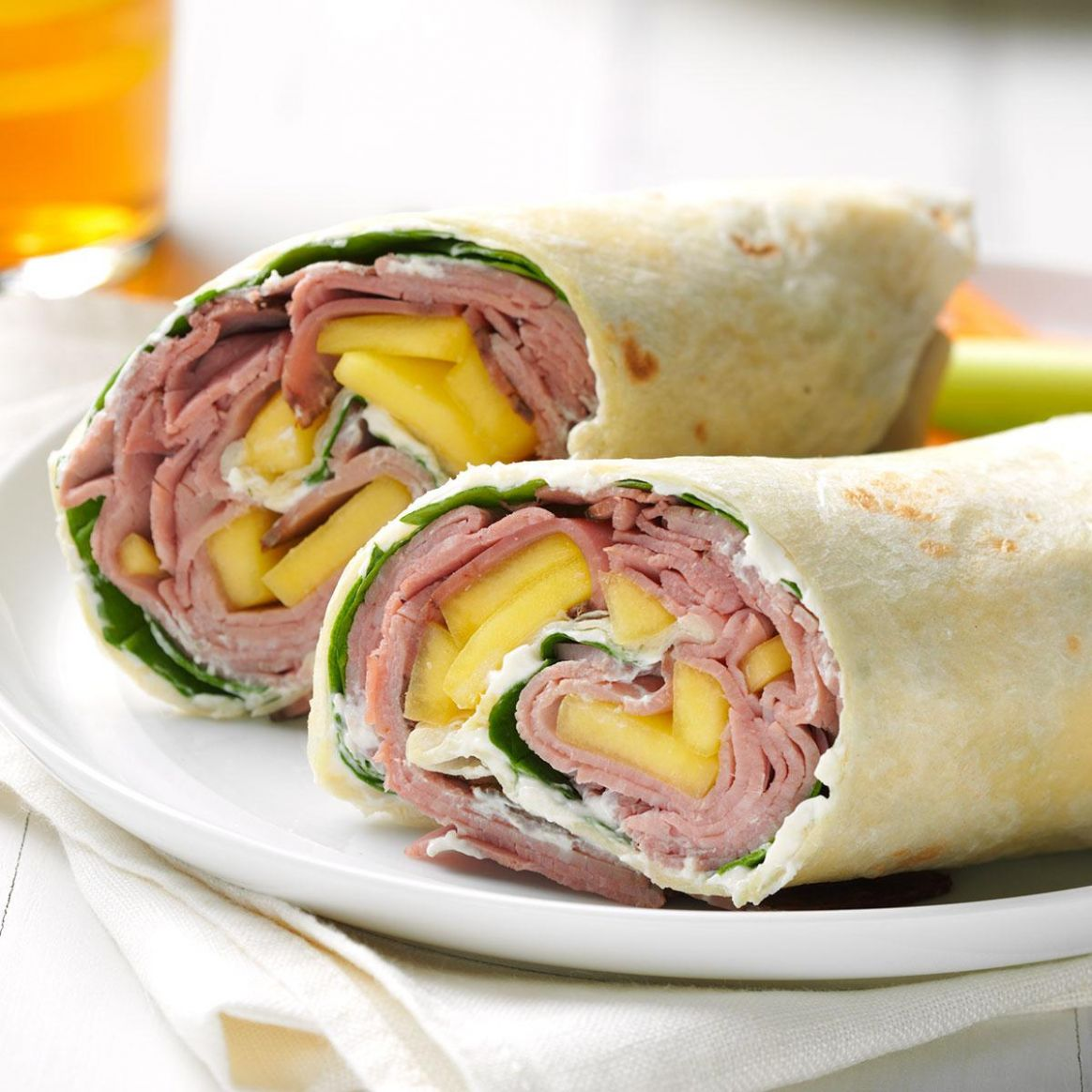 Tropical Beef Wrap - Recipes Sandwich Wraps