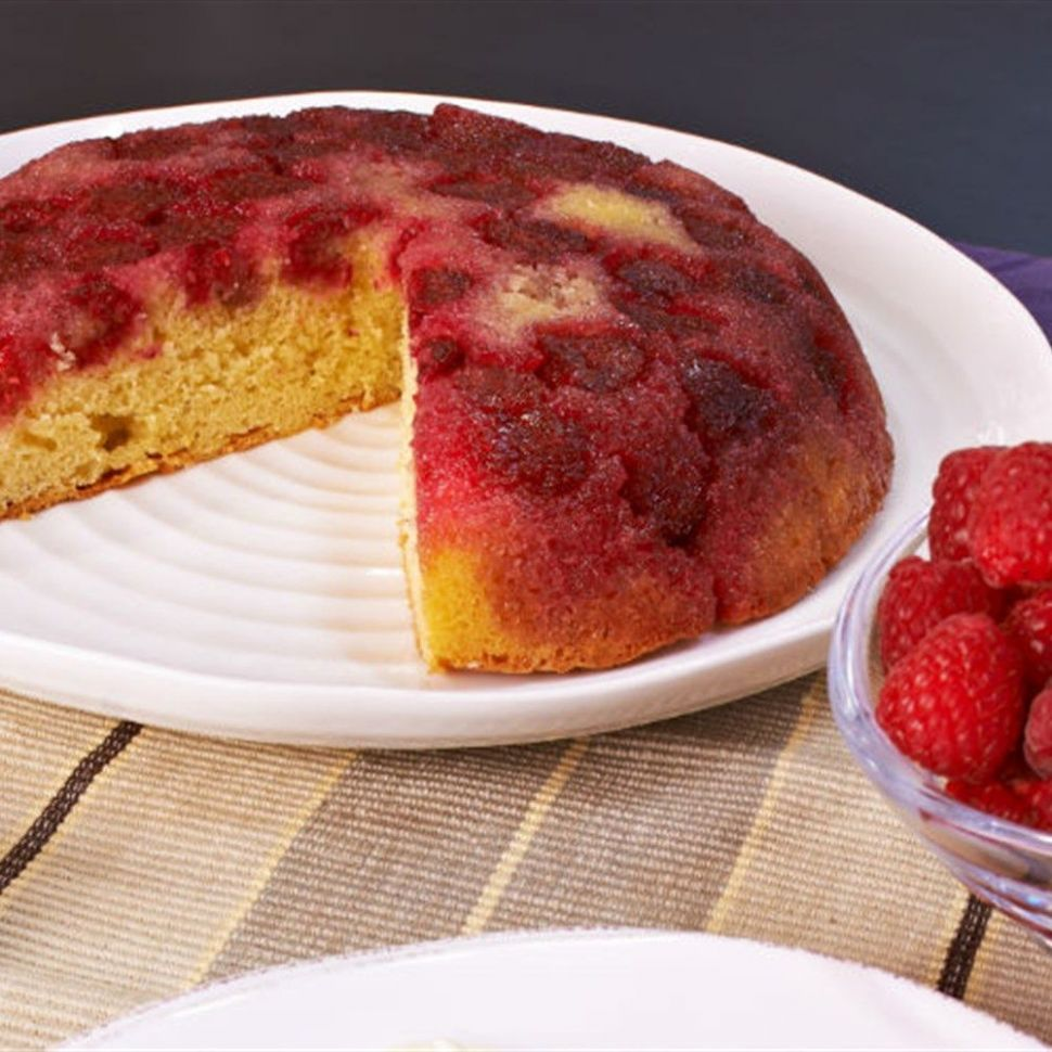 Try this Raspberry Upside-down Cake recipe by Chef Rachel Allen ..