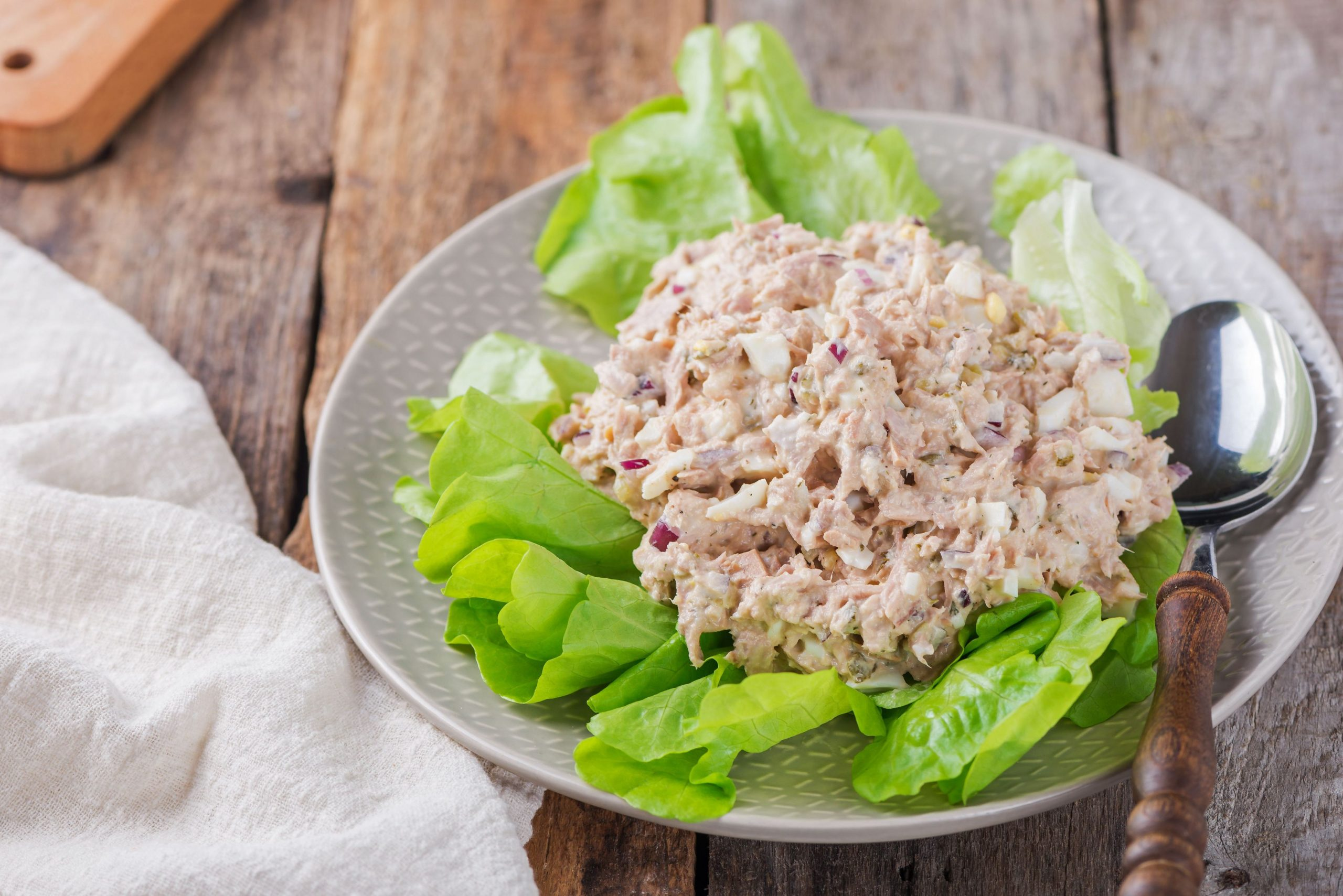 Tuna Salad With Chopped Eggs and Dill