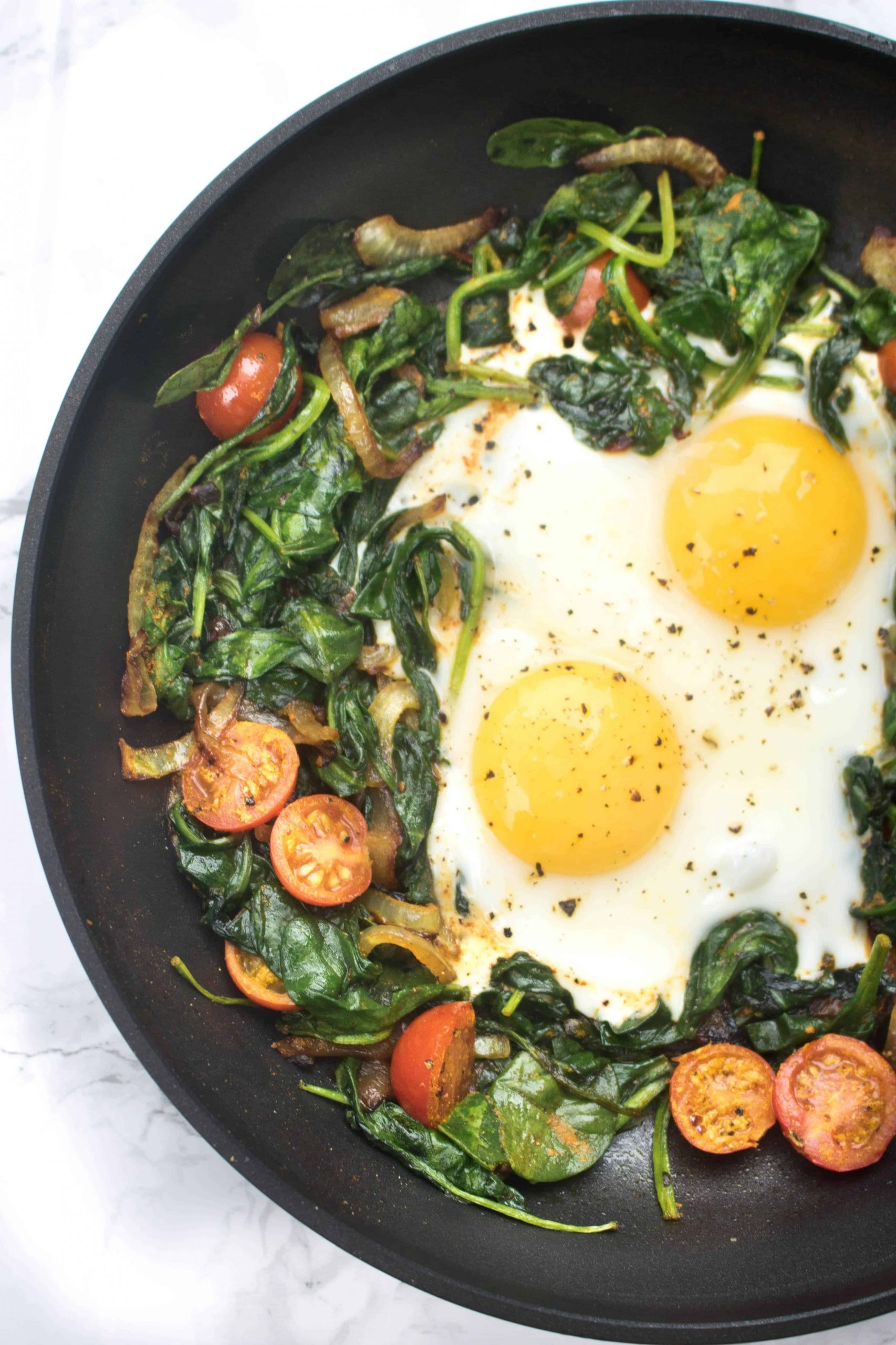 Turmeric Spinach and Eggs - Served From Scratch