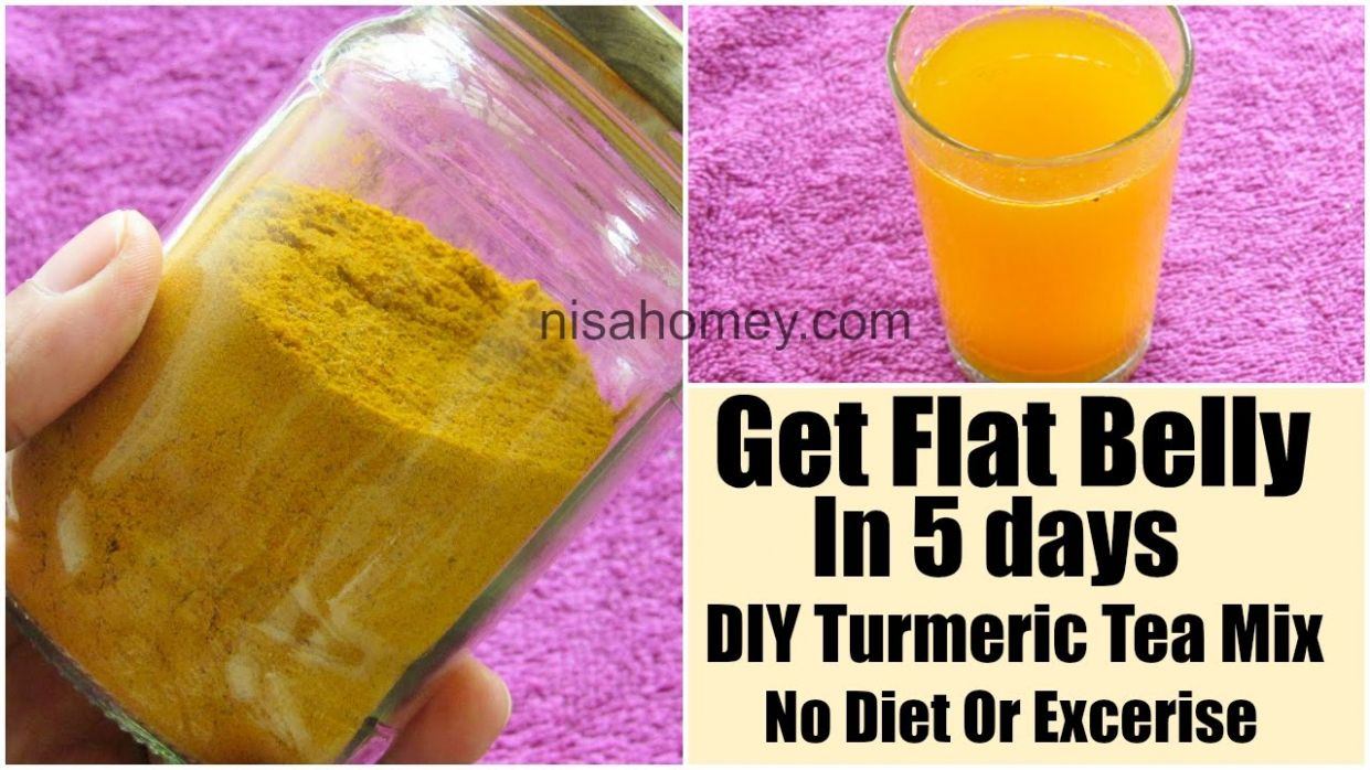 Turmeric Tea DIY Mix For Weight Loss-Get Flat Belly In 10 Days Without  Diet/Exercise-Belly Fat Burner - Recipe For Weight Loss Tea