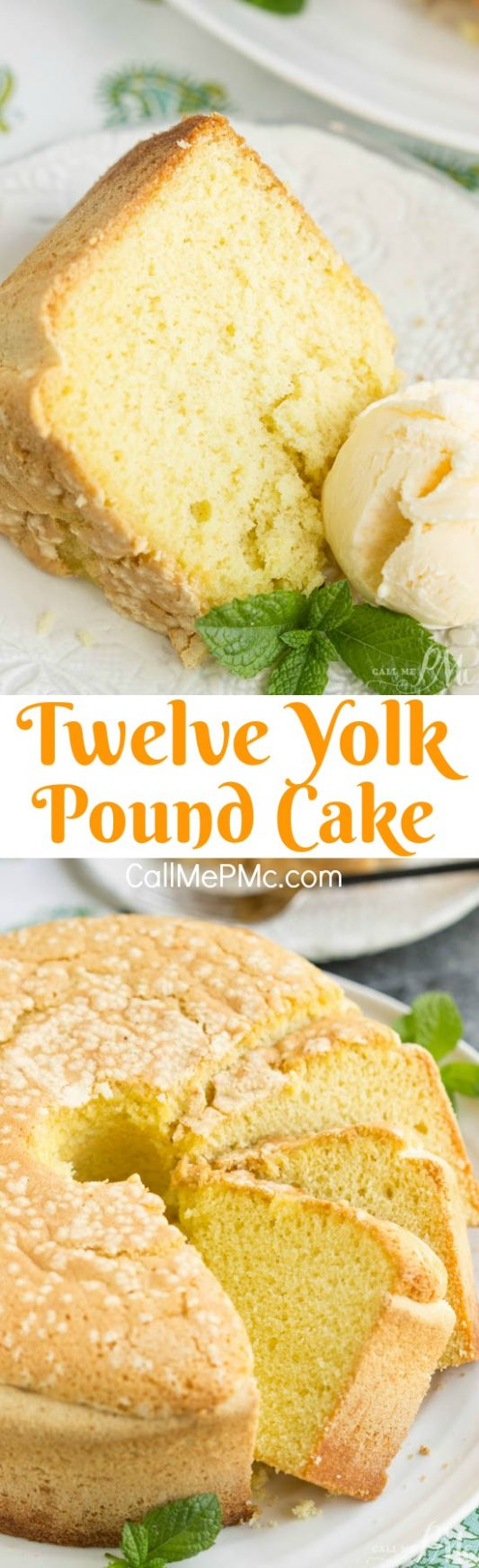 Twelve Yolk Pound Cake - Recipes With Egg Yolks