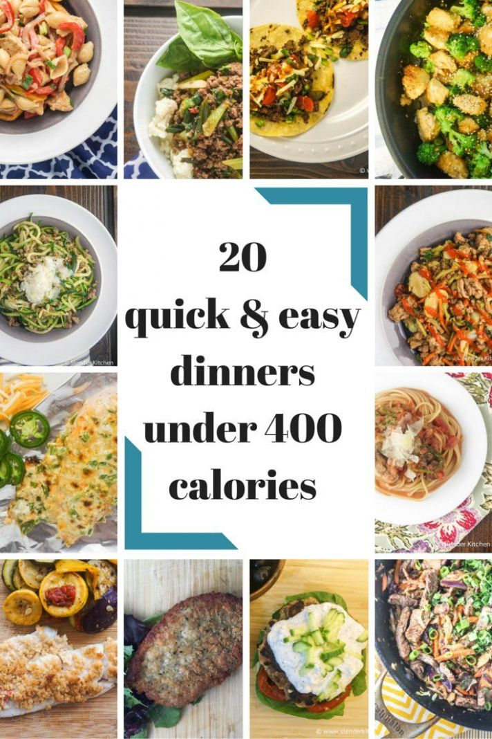Twenty Quick and Easy Dinners Under 10 Calories | Low calorie ...