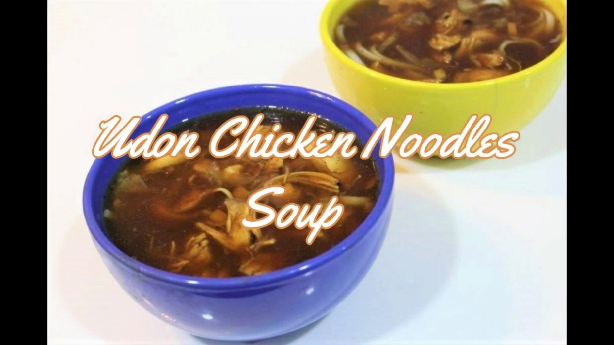 Udon Chicken Noodles Soup Recipe