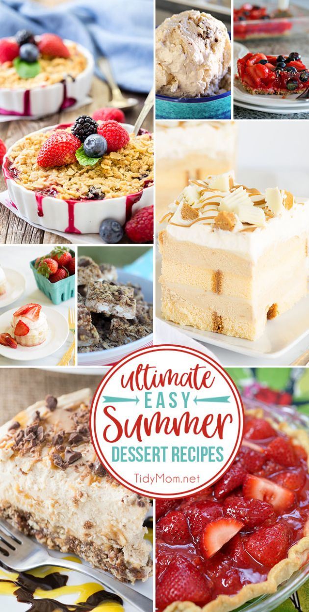 Ultimate Easy Summer Dessert Recipes | TidyMom® - Summer Recipes Baking