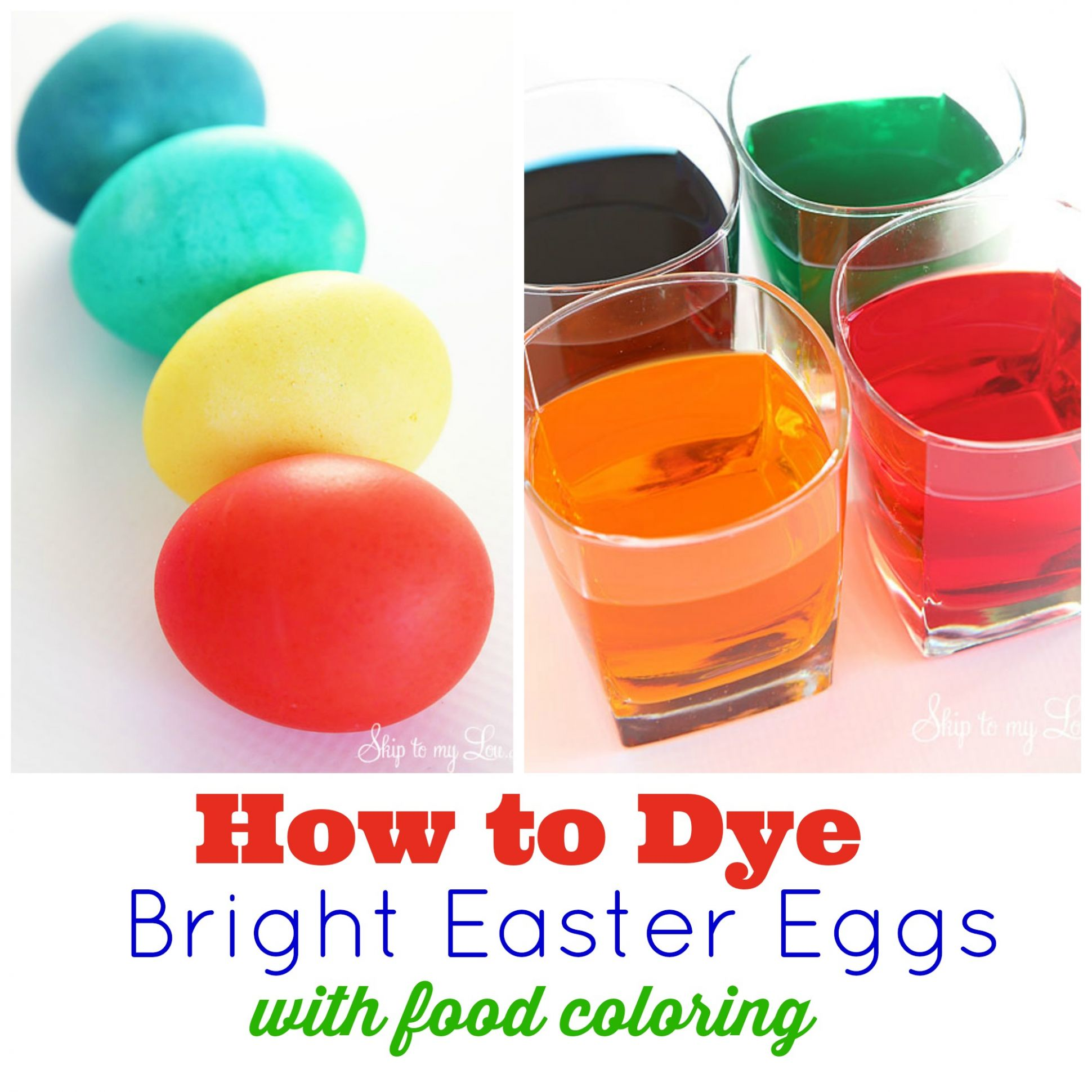 ULTIMATE How to for dying Easter eggs with food coloring | Skip To ..