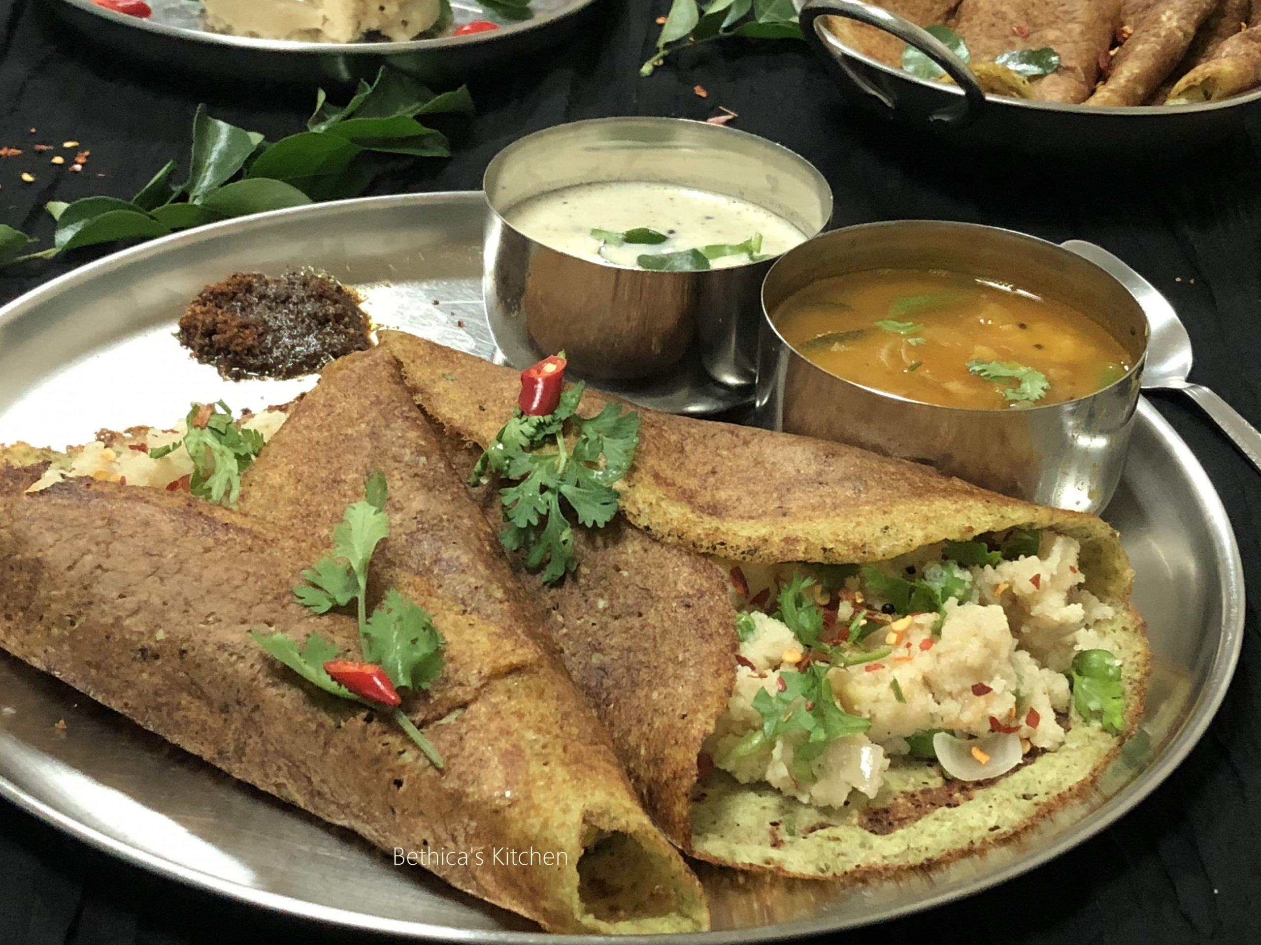 Upma Pesarattu Dosa (Traditional Andhra Breakfast)