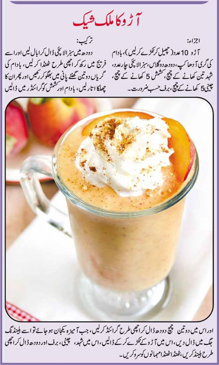 Urdu Recipe for Aro ka Shake | Cooking recipes in urdu, Recipes ..