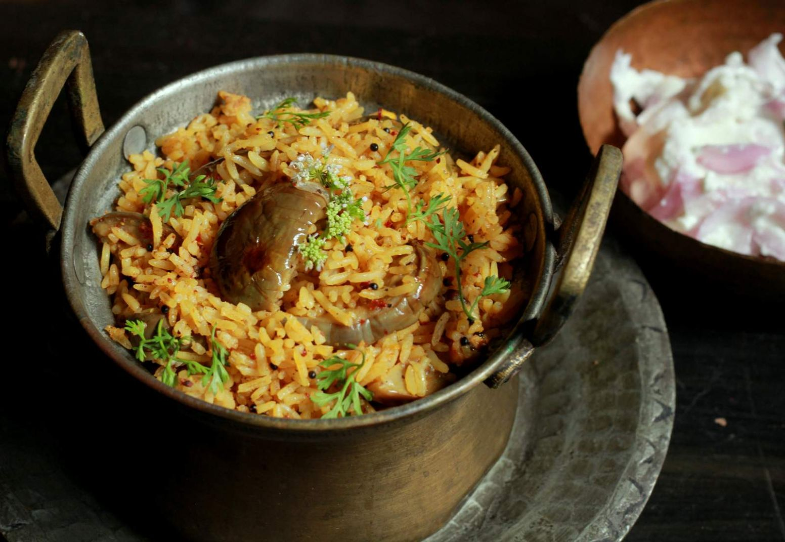 Vaangi Bhaat Recipe (Maharashtrian Style Brinjal Rice) - Rice Recipes Marathi