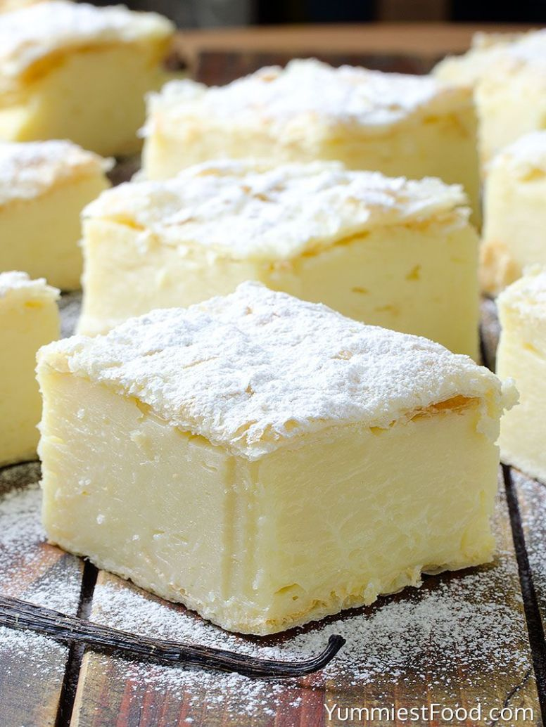 Vanilla Custard Slice - Dessert Recipes Vanilla