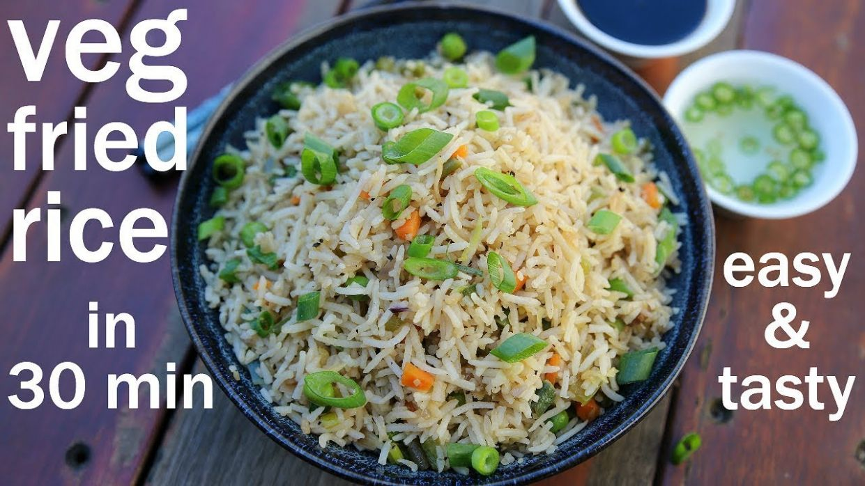veg fried rice recipe | vegetable fried rice | chinese fried rice - Dinner Recipes Hebbars Kitchen