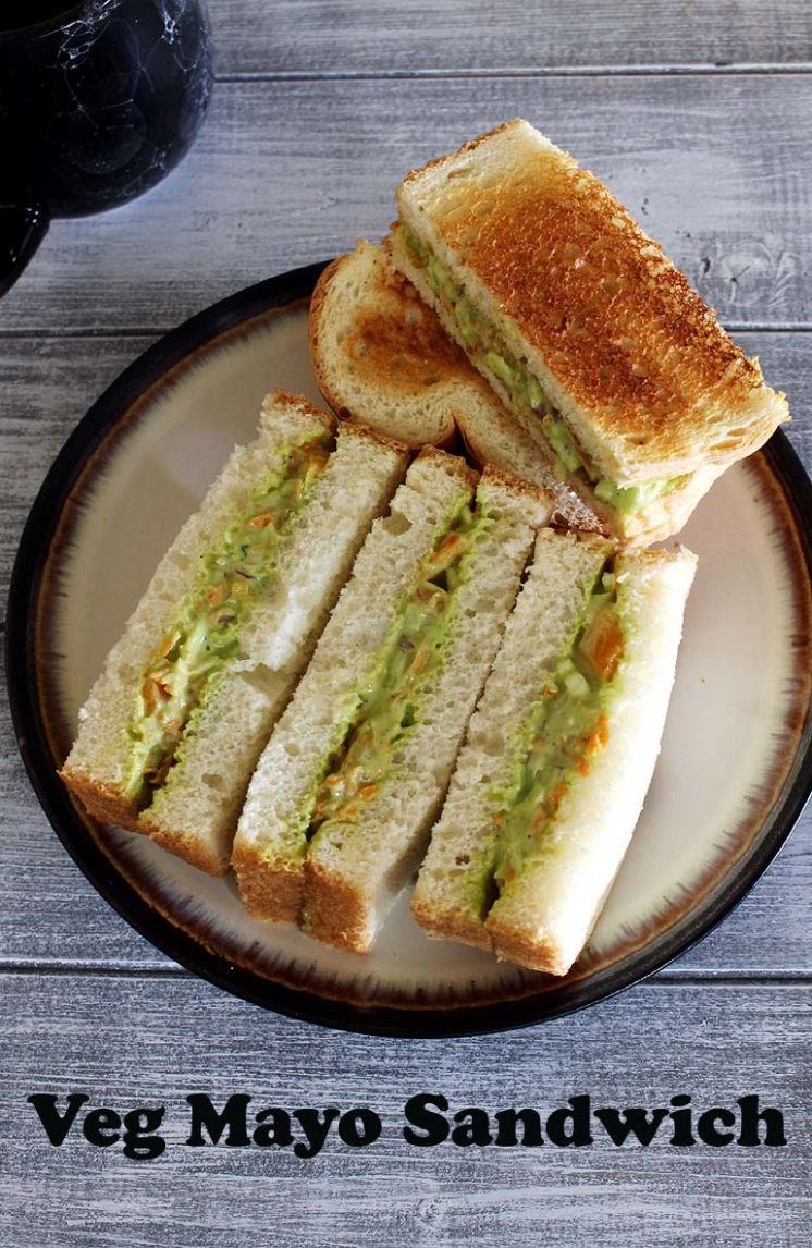 Veg Mayonnaise Sandwich Recipe (How to make Mayo Sandwich Recipe) - Sandwich Recipes With Ingredients And Procedure
