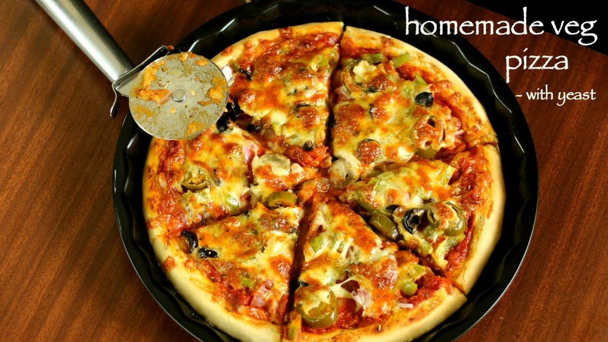 veg pizza recipe | veggie pizza recipe | vegetable pizza recipe - Pizza Recipes Vegetarian